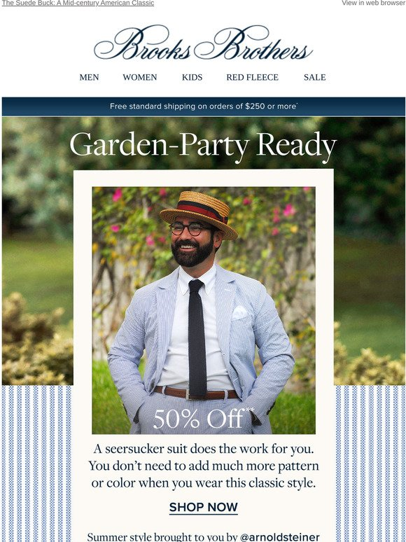 Brooks Brothers The Seersucker Suit Style Tips For Summer Milled