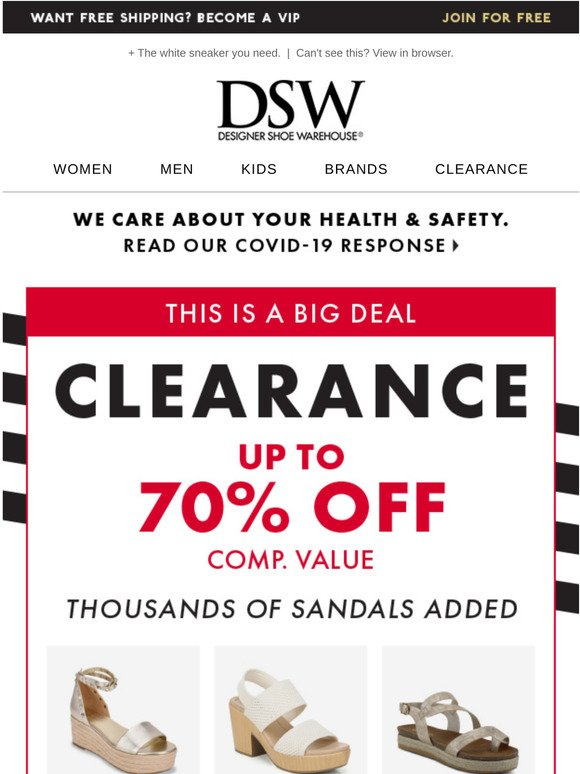 DSW: Thousands of clearance styles just