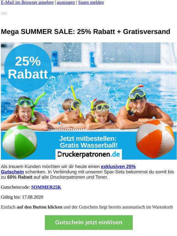 ☀️ SUMMER SALE verlängert: 25% Rabatt und Wasserball