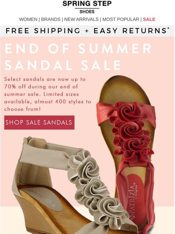 Spring Step Shoes: End Of Summer Sandal