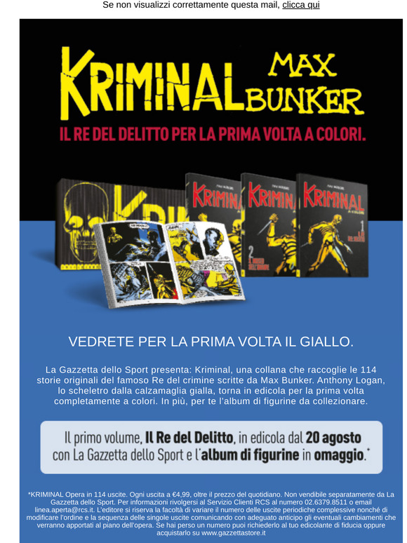KRIMINAL MAX BUNKER A COLORI 1+ALBUM FIGURINE.GAZZETTA SPORT SPEDIZIONE CORRIERE