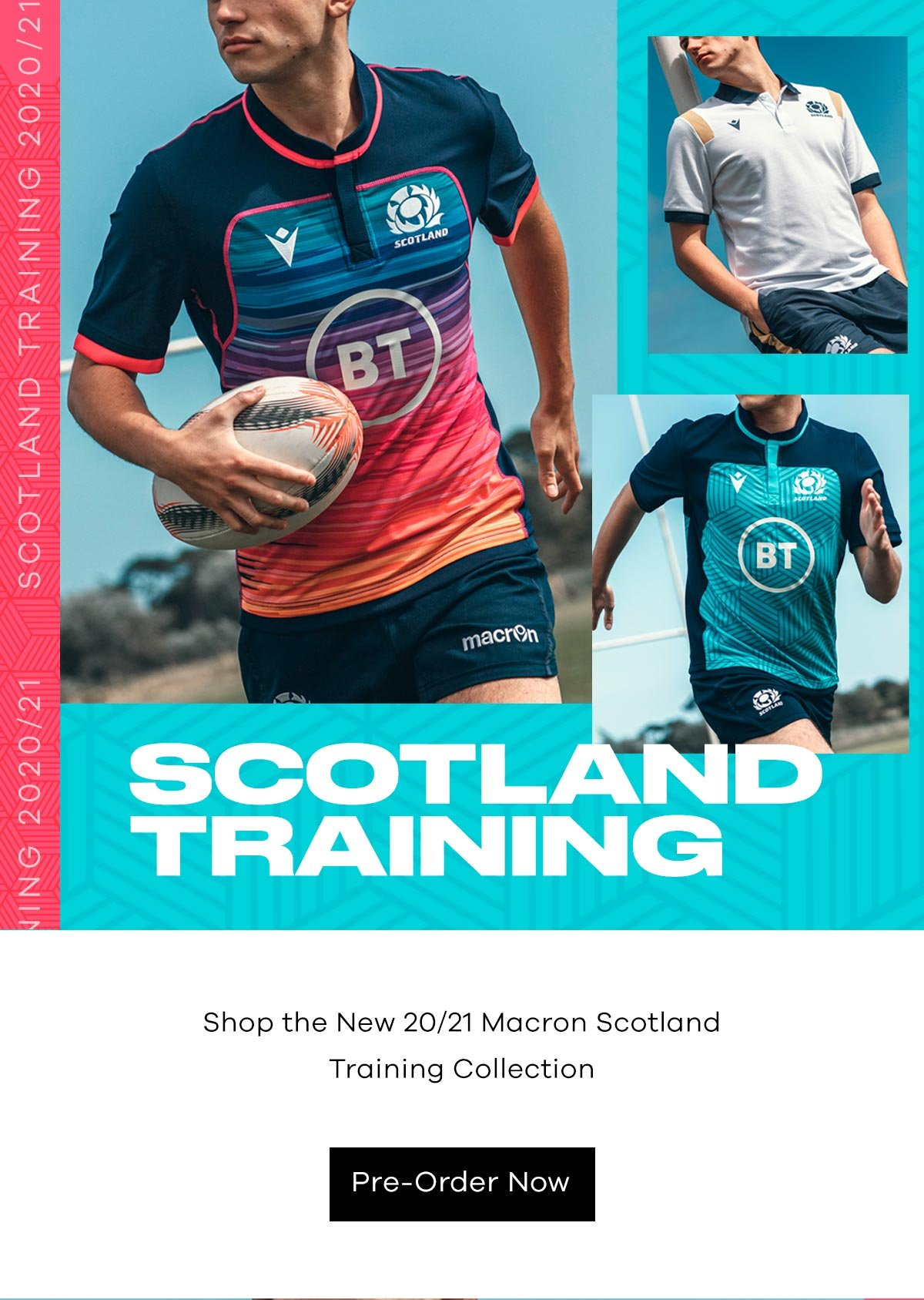 Lovell Rugby Limited The New Macron 20 21 Scotland Training Collection Milled