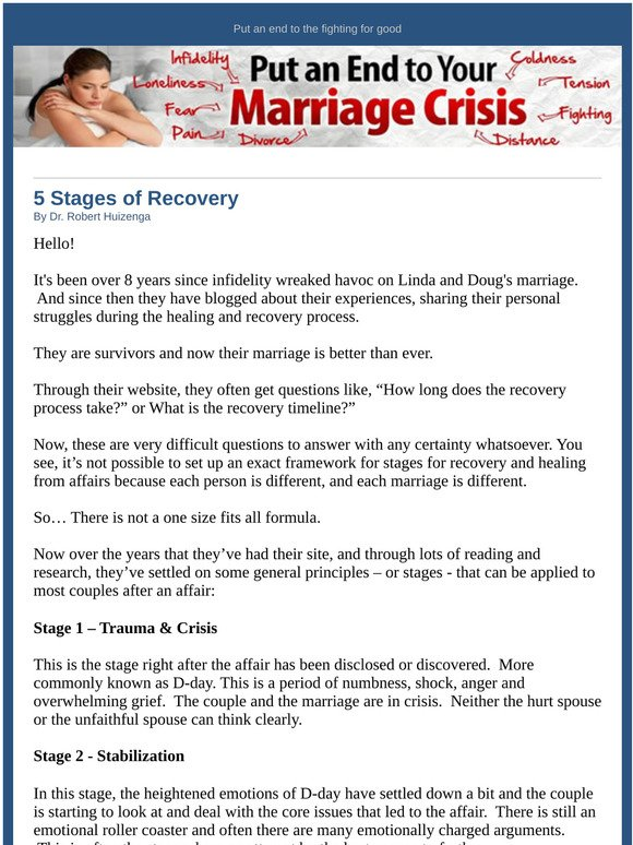 Affairs emotional stages of Emotional Infidelity