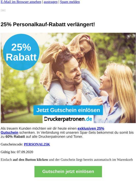➥ 25% Personalkauf-Rabatt verlängert!