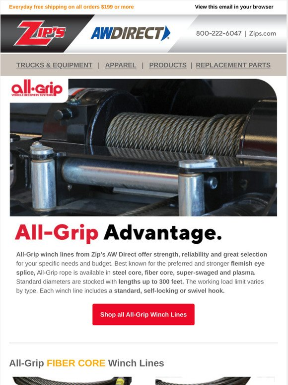 Aw Direct Replace Your Winch Line Today Milled It's with great excitement that i am proud to announce that zip's has purchased aw direct. aw direct replace your winch line