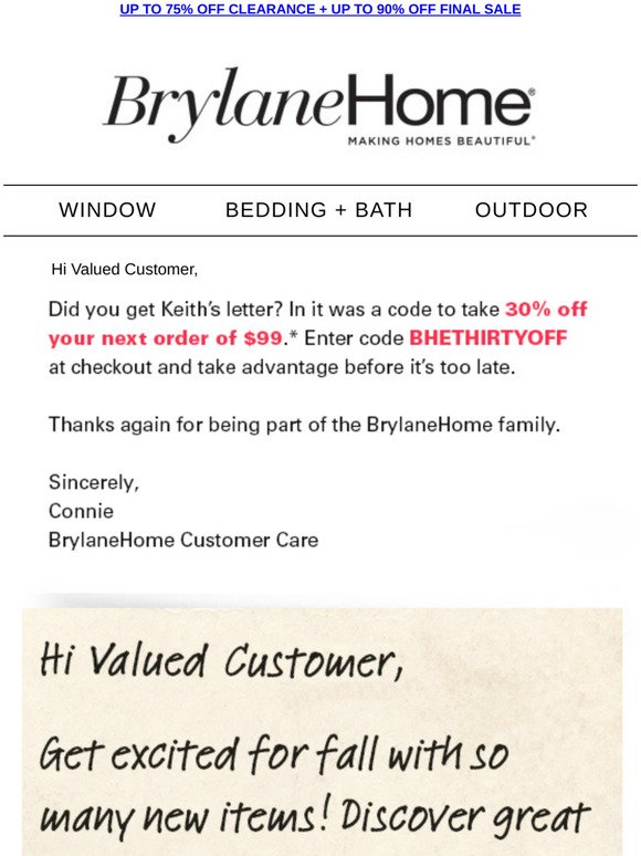 Brylane Home Your 30 Off Code Is Here Milled