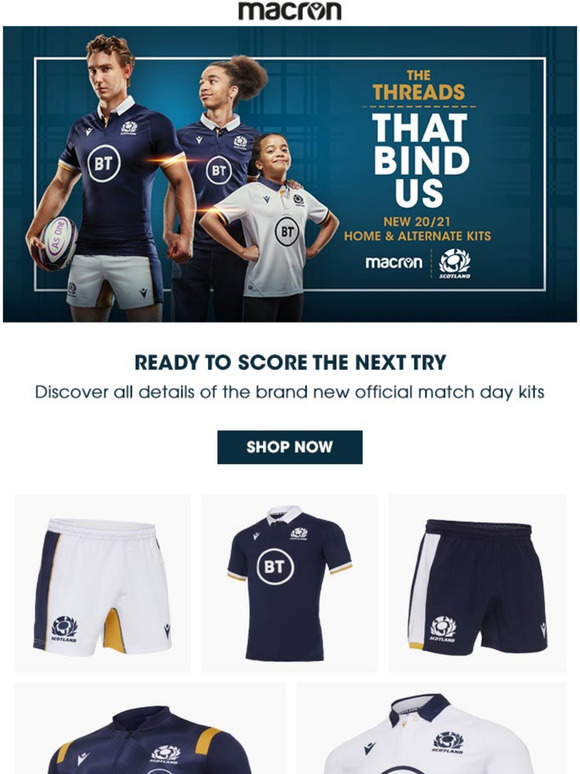 Macron Find Out The New Scottish Rugby Match Jerseys Milled