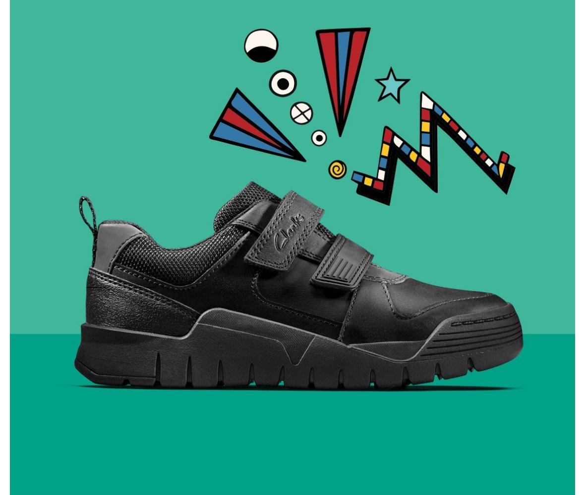 clark boys school shoes