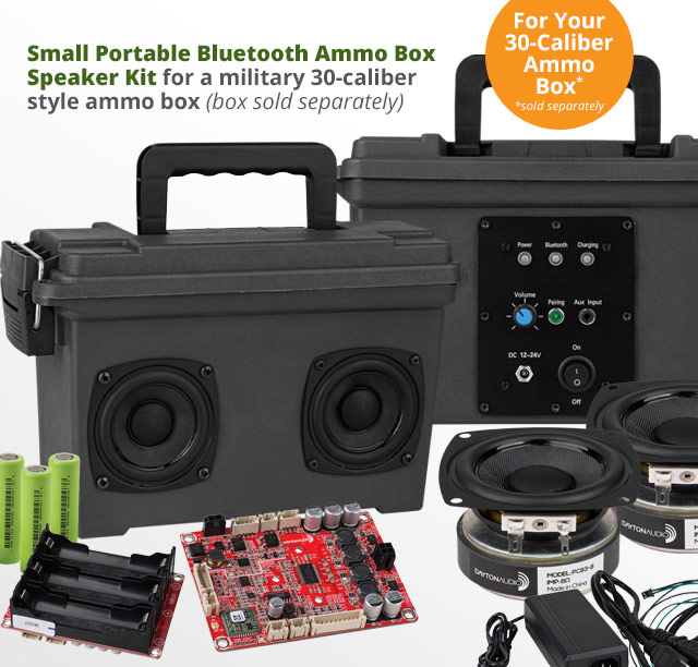 Parts Express: Portable Bluetooth Speaker Kits  Milled