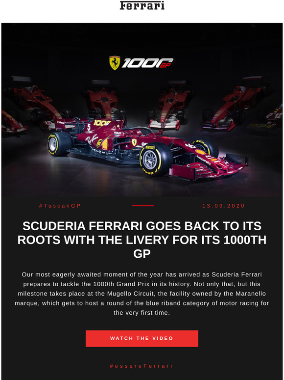 Ferrari Discover Scuderia Ferrari S Special Livery For Its 1000th Grand Prix At Mugello Milled
