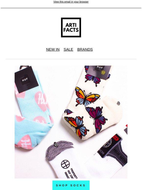 Pale Aqua HUF Plastic Hearts Socks