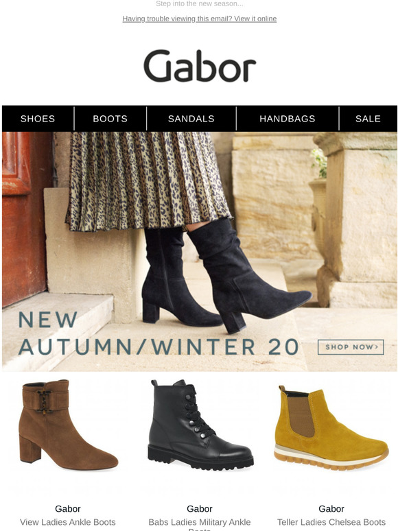 Gabor Shoes: New AW20 | Take a look at