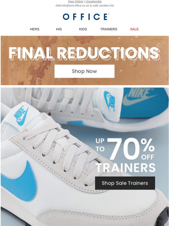 70 off trainers