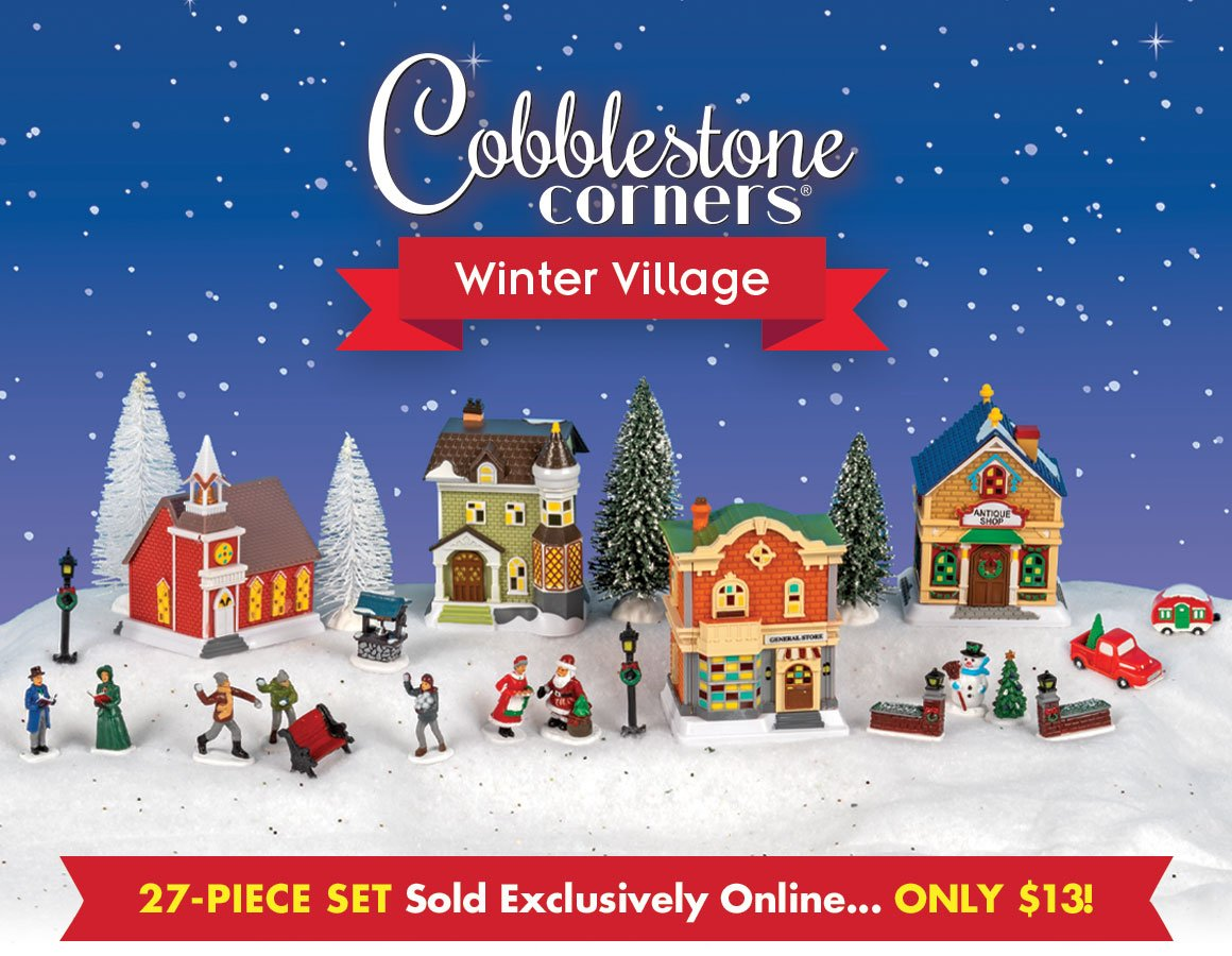 2020 Cobblestone Village Christmas Dollar Tree: Cobblestone Corners Has Arrived! | Milled