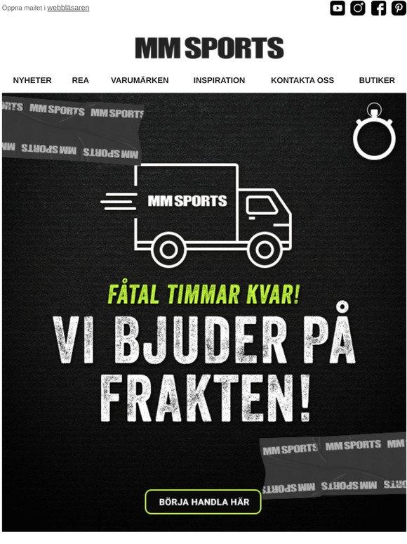 mm sports fri frakt