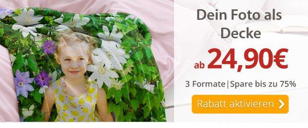 Dein Foto als Decke ab 24,90€