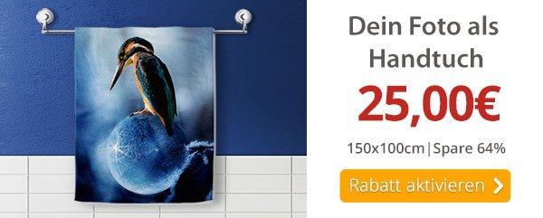 Dein Foto als Handtuch nur 25€