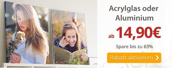Dein Foto hinter Acrylglas oder auf Aluminium ab 14,90€
