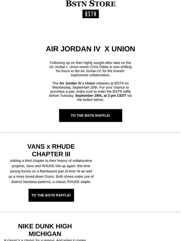 Bstn It: Air Jordan IV x Union \u0026 more