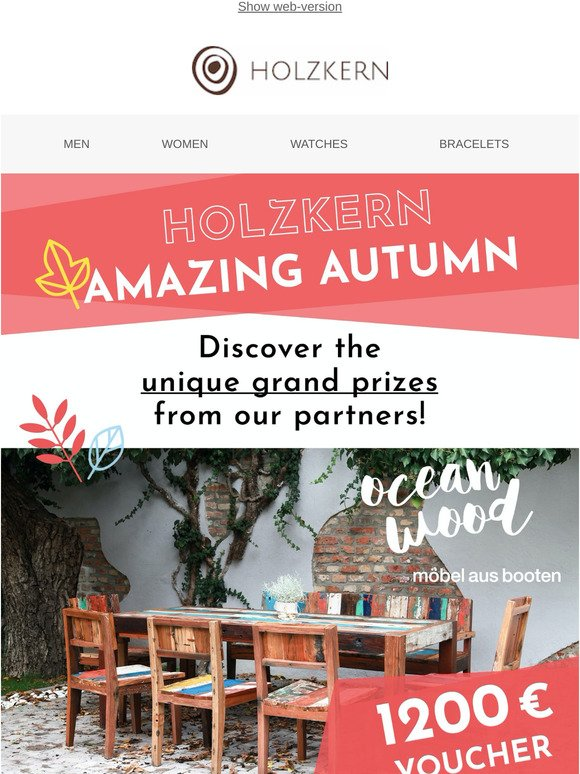 Discover grand prizes with Holzkern Amazing Autumn!