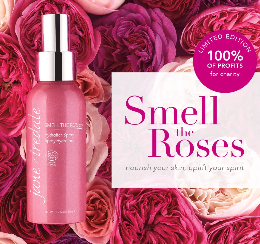 Jane Iredale: NEW Smell the Roses Hydration Spray | Milled