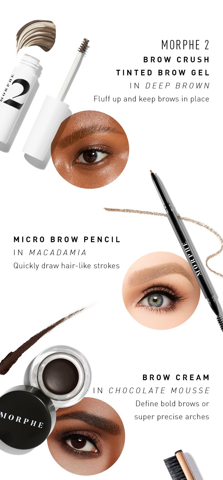Morphe Brow Must Haves Milled Discover our range of eyebrow gel & serums. morphe brow must haves milled
