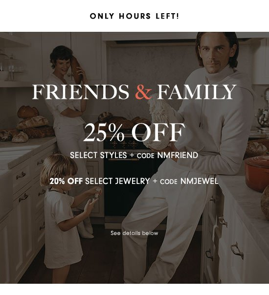 25% off + 20% off jewelry