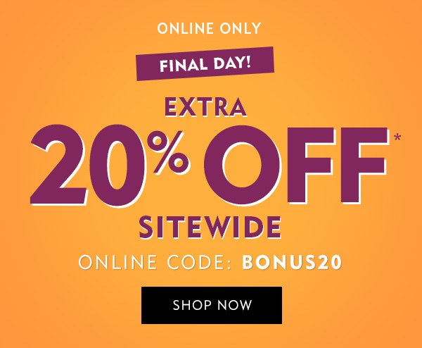 Hours left to save an extra 20
