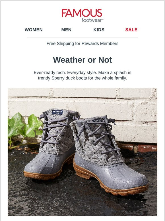 THOSE Sperry boots you've been eyeing