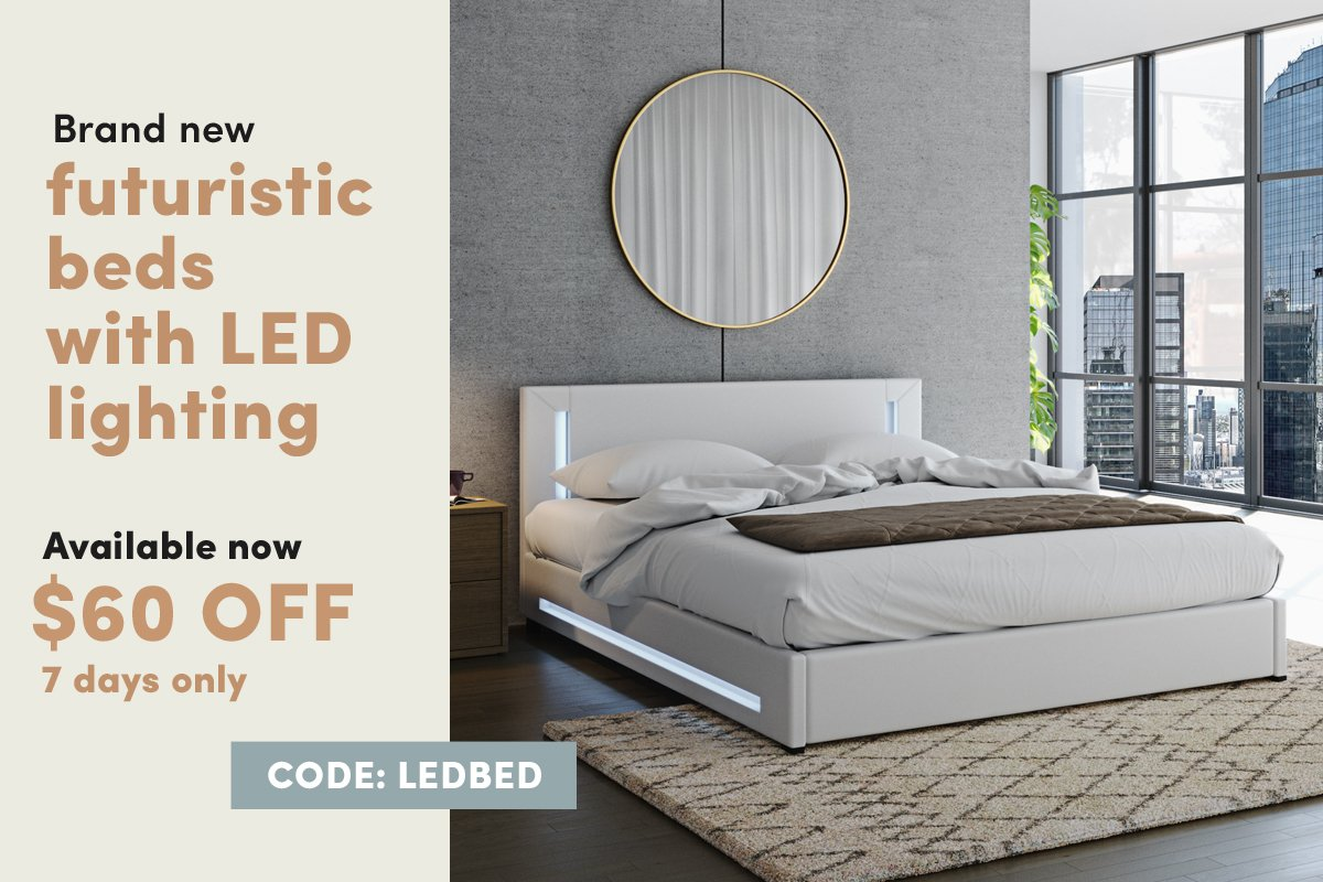 Luxoliving 60 Off Brand New Futuristic Beds With Led Lighting Milled