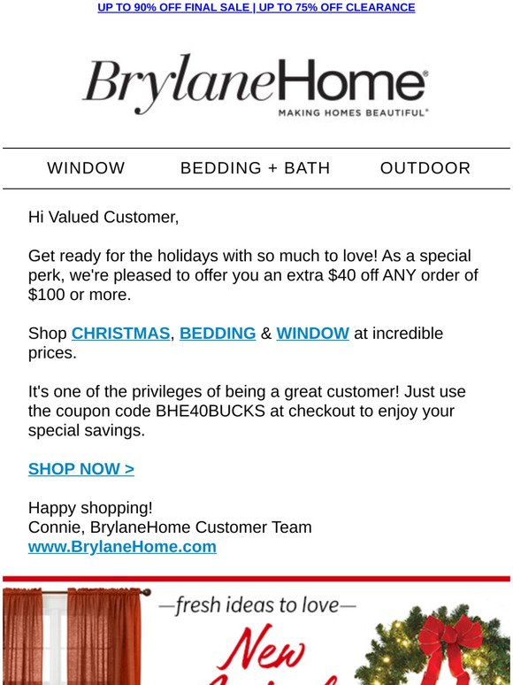 Brylane Home It S Over At Midnight Claim Your 40 Off Now Milled