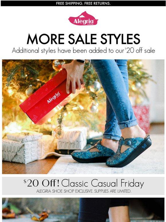 alegria shoe shop sale