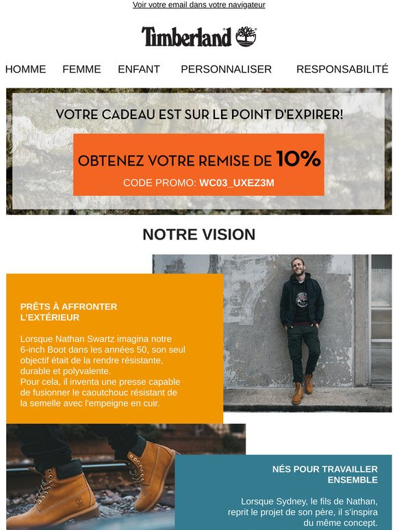 Predicar tofu finalizando  Timberland (FR) Email Newsletters: Shop Sales, Discounts, and Coupon Codes