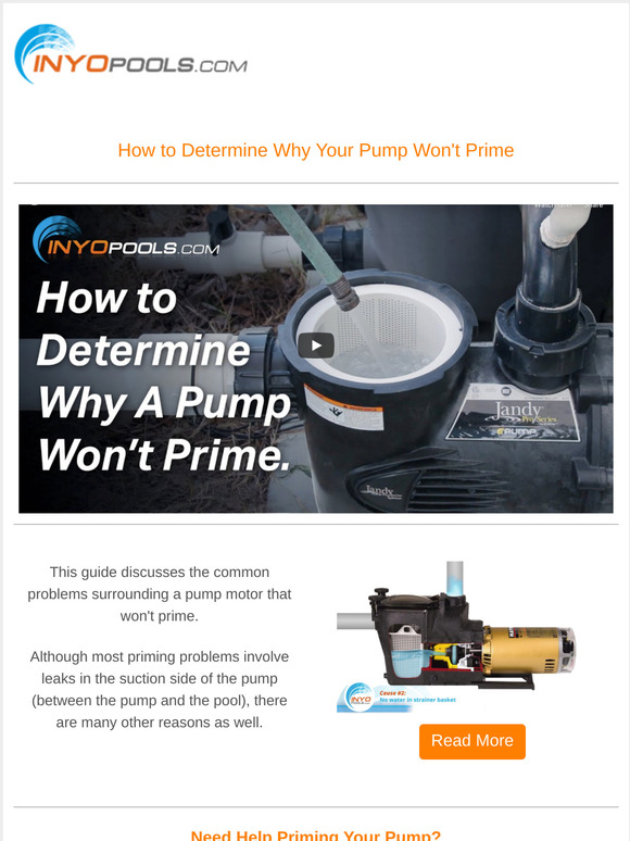 Inyo Pool Products Inc Learn How To Prime A Pool Pump Milled