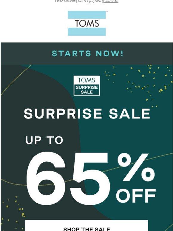 TOMS Surprise Sale: Starts now
