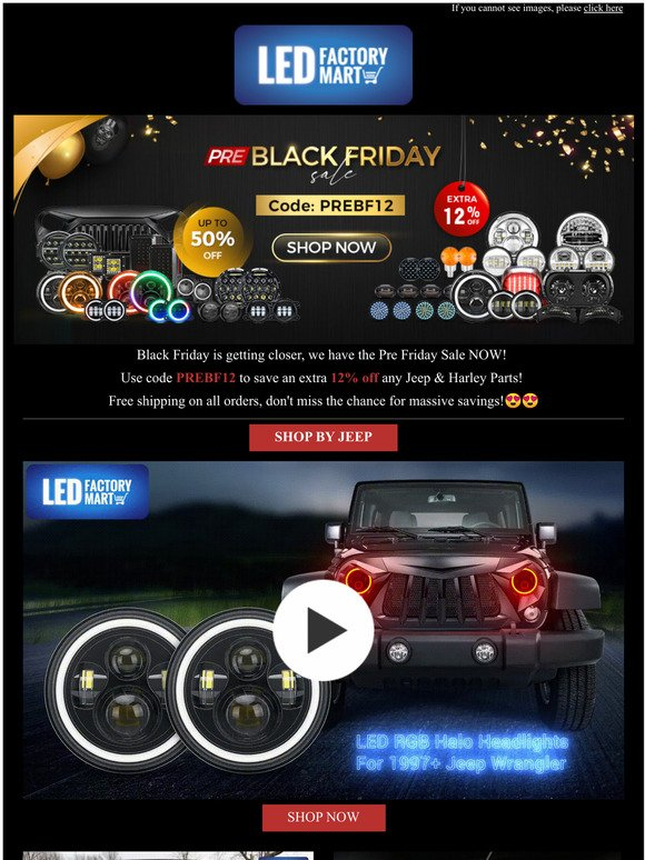 Led Factory Mart Black Friday Is Getting Closer Up To 50 Off Don T Miss This Chance For Massive Savings Milled
