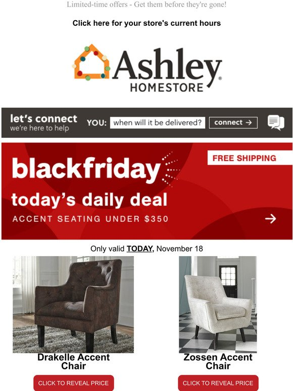 Ashley Furniture Carpe Diem Today S Unique Black Friday Deals Are Here Milled