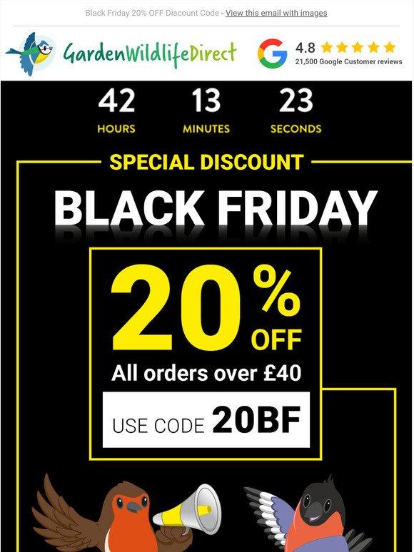 Garden Wildlife Direct Off Discount Code Black Friday Milled
