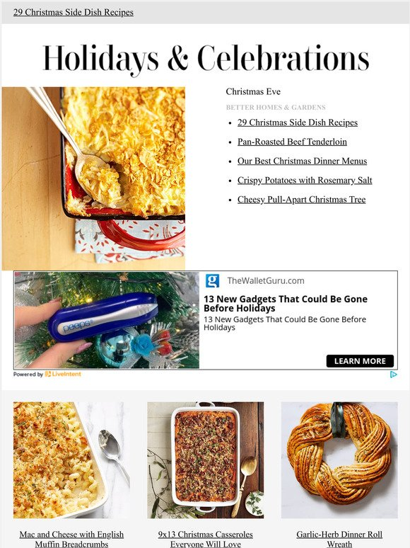 Better Homes And Gardens Cheesy Vegetable Side Dishes Milled
