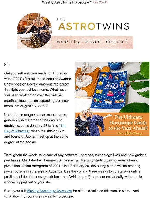 Leo horoscope today astrotwins