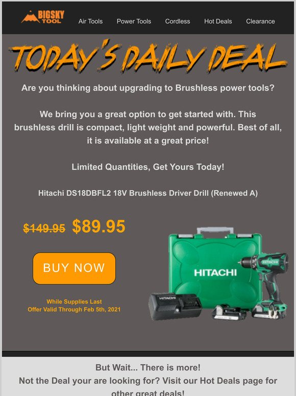 Renewed Hitachi KNT50AB Hitachi KNT50AB 2 Pcs Finish Combo Kit
