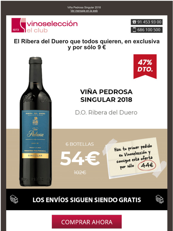 Vinoseleccion Un Via Pedrosa Por Slo 7 35 Botella Al Realizar Tu Primer Pedido Milled