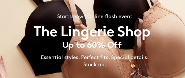 Nordstrom Rack: The Lingerie Shop – Up to 60% Off