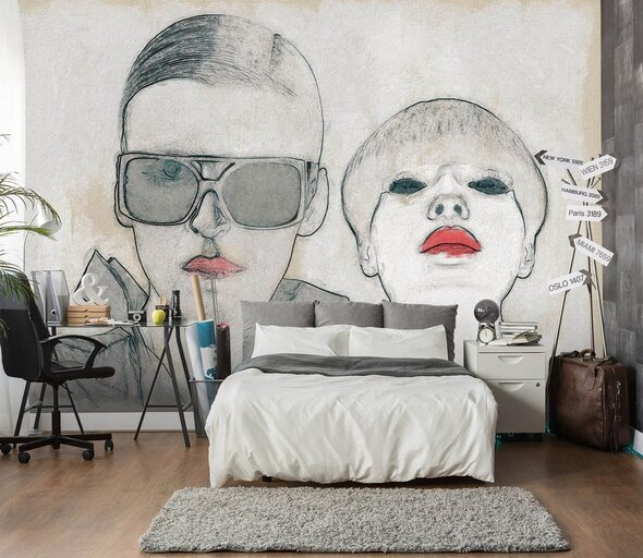 Details about  /3D Fashion Sketch ZHU406 Wall Stickers Wall Murals Wallpaper Marco Cavazzana Amy