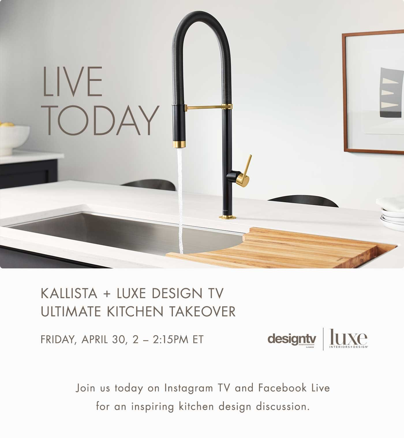 Kallista Live Today Ultimate Kitchen Takeover Milled