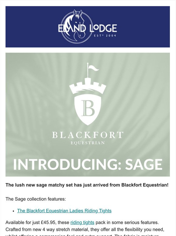 elandlodge.com: You will this NEW colour by Blackfort